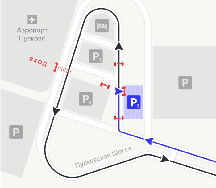 Въезд на парковку P3